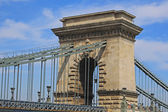 Szechenyi Chain Bridge, Budapest, Hungary — Stockfoto