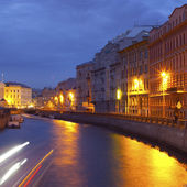Night city. Canals of St. Petersburg — Stock Photo