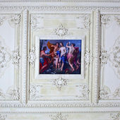 ST.PETERSBURG, RUSSIA - JUNE 24: Interior of Catherine Palace in June 24, 2013 in St.Petersburg, Russia. The former imperial palace. Building is laid in 1717 on orders of Catherine I. Now a museum — Stock Photo