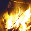 Camp fire in night — Stock Photo #30080417