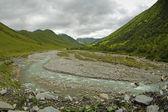 Caucasus mountains taken in Swanetia, Georgia — Foto de Stock