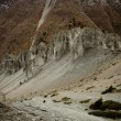 Rocks on the way from Manang toTilicho lake — Stock Photo
