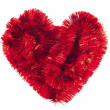 Red Christmas heart toys — Stock Photo