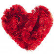 Stock Photo: Red Christmas garland forming heart