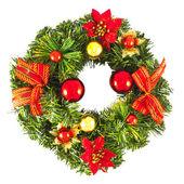 Christmas wreath with decorations — Foto Stock