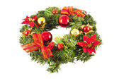 Christmas wreath with decorations — Stock fotografie