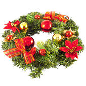Christmas wreath with decorations — Stockfoto