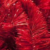 Red christmas garland — Stock Photo
