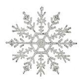 Silver snöflinga — Stockfoto