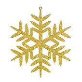 Golden snowflake — Stock Photo