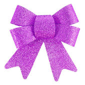 Purple bow isolated — Stock Photo
