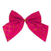 Pink bow isolated — Stock Photo