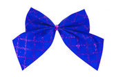 Blue bow isolated — Stock Photo