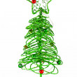 The toy of the christmas tree isolated on white — Stock Photo