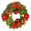 Christmas decorated wreath — Stock Photo #36468901