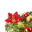 Christmas decorated wreath — Stock Photo #36468911