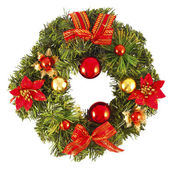 Christmas decorated wreath — Stock fotografie