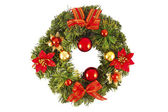 Christmas decorated wreath — Zdjęcie stockowe