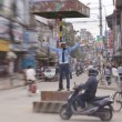 Officer regulate traffic in central Kathmandu — Stock Photo #36694209