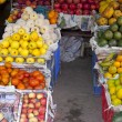 Selling fruits on street — Stock Photo