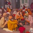 Stock Photo: Sikh pilgrims in Golden Temple during celebration Diwali day