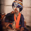 Stock Photo: Sikh pilgrim in Golden Temple during celebration Diwali day