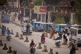 Traffic jam and air pollution in central Kathmandu — Photo