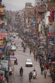 Traffic jam and air pollution in central Kathmandu — Zdjęcie stockowe