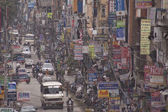 Traffic jam and air pollution in central Kathmandu — ストック写真
