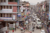 Traffic jam and air pollution in central Kathmandu — Stock fotografie