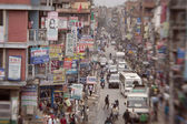 Traffic jam and air pollution in central Kathmandu — Foto Stock