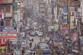Traffic jam and air pollution in central Kathmandu — Stockfoto