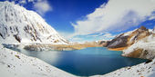 Tilicho blue lake — Stock Photo