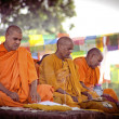 Pilgrims visit the birthplace of Buddha — Stock Photo
