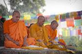 Pilgrims visit the birthplace of Buddha — Stock Photo