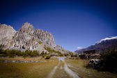 Beautiful side-valley on the way from Manang to Thorung Phedi — Стоковое фото