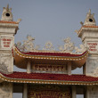 Stock Photo: Rooftop of buddhist temple