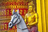Statue of Buddha on horse — Stock Photo