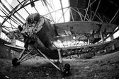 Old abandoned Navy plane — Foto Stock