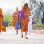 Pilgrims visit birthplace of Buddha — Stock Photo