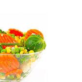 Mrożone warzywa w naczyniu — Zdjęcie stockowe