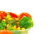 Frozen vegetables in bowl — Stock Photo