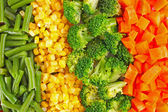 混合野菜の背景 — ストック写真