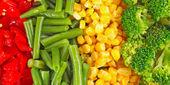 Blandade grönsaker bakgrund — Stockfoto