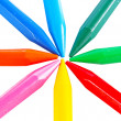 Colour pencils isolated — Stock Photo #39643727