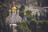 Catedral de maria madalena do getsêmani ortodoxo russo — Foto Stock