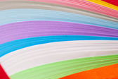 Paper strips in bright colors — Stock Photo