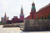 View of the Red Square with Vasilevsky descent — Stock Photo