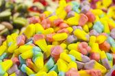 Barevný gumový bonbony — Stock fotografie