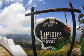 View on tea plantations from Lipton's Seat in Haputale — Stock Photo